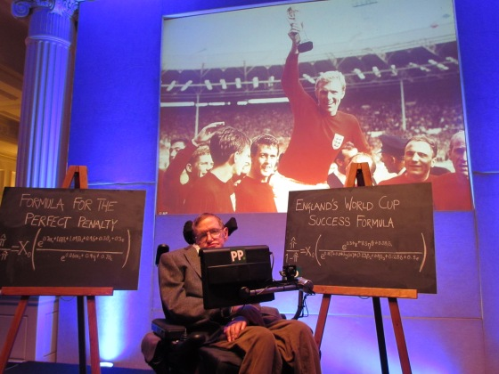 Professor Stephen Hawkings tells us the winning formula to win the World Cup 2014