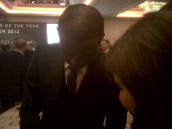 Congratulating the inspirational Fabrice Muamba.