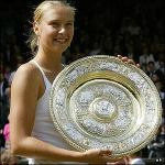 Maria Sharapova winning Wimbledon in 2004 