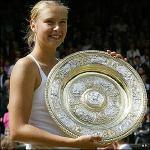 Maria Sharapova winning Wimbledon in 2004  Source:tennisgranstand.com