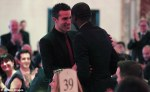 Robin Van Persie and Fabrice Muamba meet as Van Persie congratulates his former teammate for his miraculous recovery.