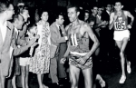 Abebe Bikila winning in Rome 1960