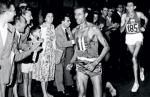 Abebe Bikila winning in Rome 1960 Source: ethiozoo.com
