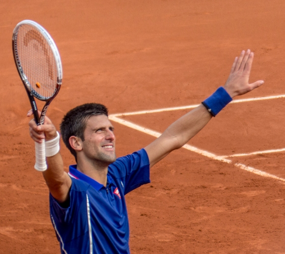 Novak Djokovic was attempting to complete his career slam with his first win at the French Open
